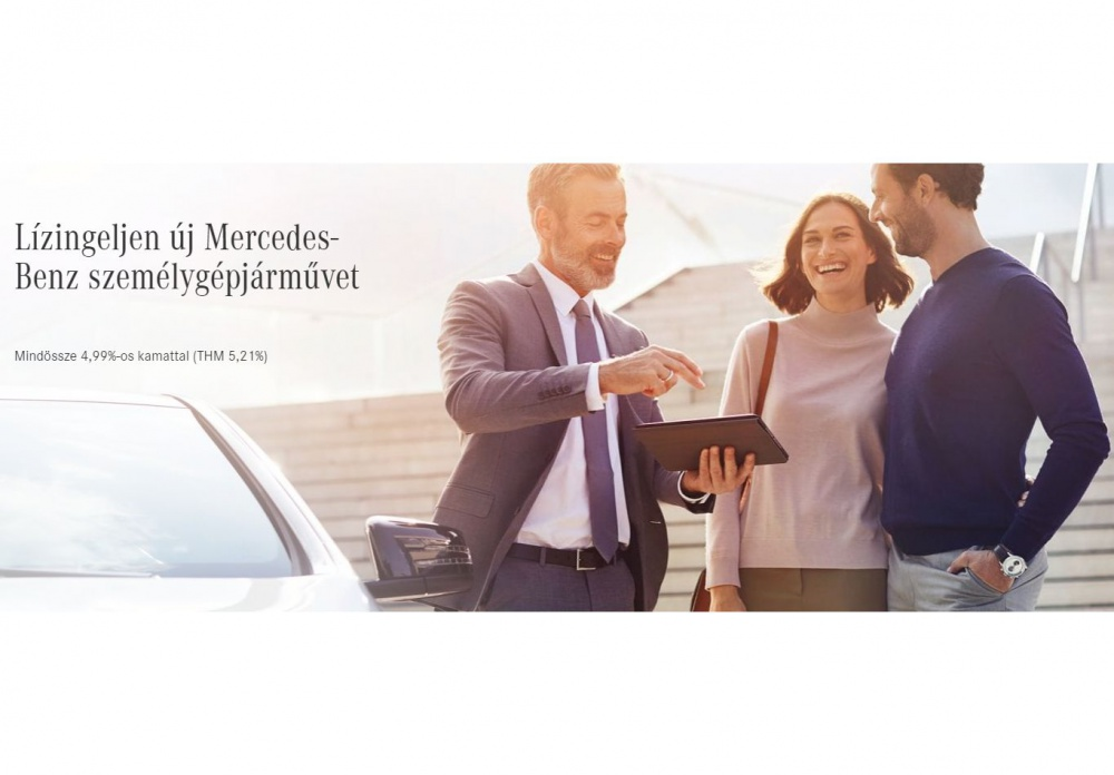 Lízingeljen új Mercedes-Benz személygépjárművet