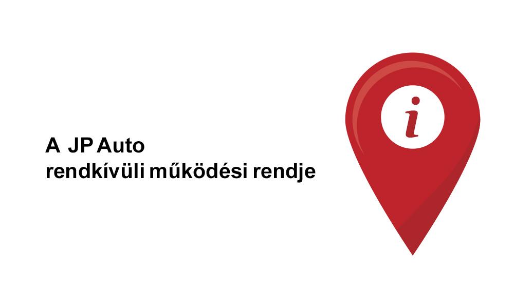 Nyitva tartás módosulása a Jász-Plasztik Autócentrum összes telephelyén